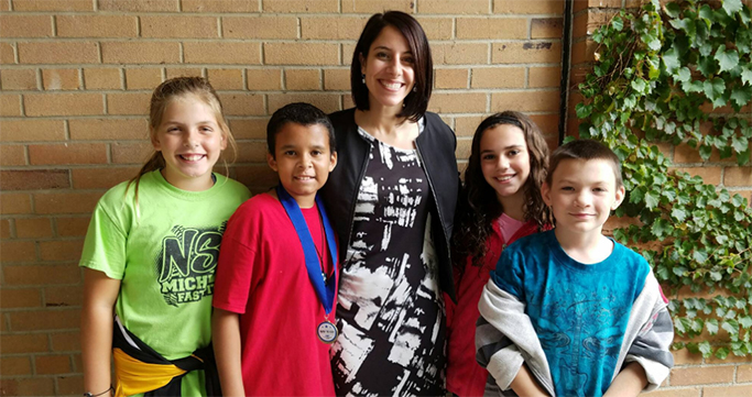 Glengary students with Principal RosaLeigh Johnson