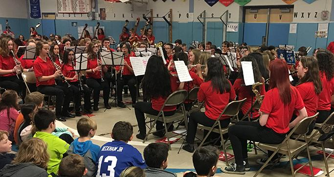 Middle School Band Performance at Keith