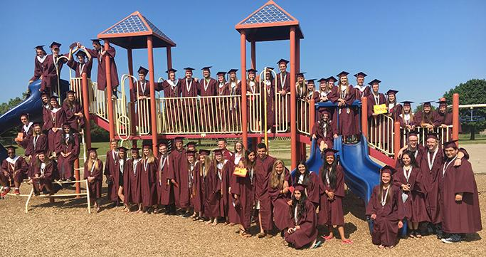 WLN Class of 2017 graduates on Keith playground