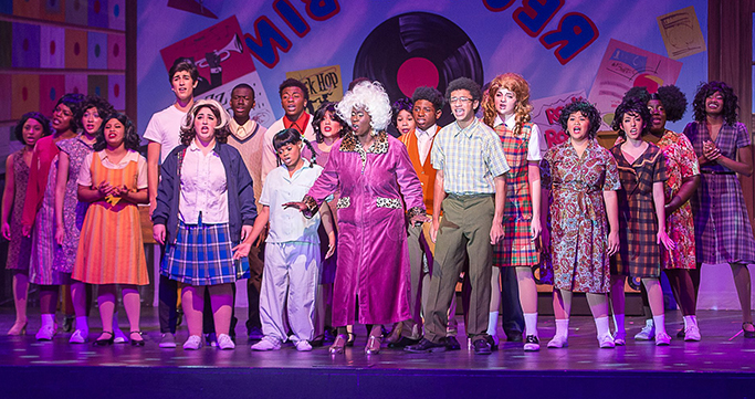 Students performing in Hairspray