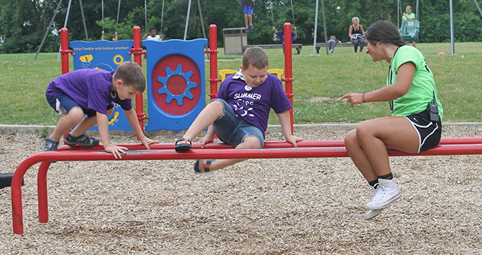 Hickory Woods Summer Care students having fun