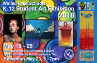 K-12 Art Show Poster featuring samples of student artwork