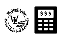 District Logo and Calculator graphic for District Budget Information