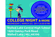 WLCSD College Night Postcard