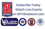 NFHSA logo, WLCSD Athletic Logos, subscribe today watch live events on NFHSnetwork.com