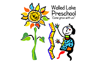 "Walled Lake Preschool Programs Logo and Motto: ""Come grow with us!"""