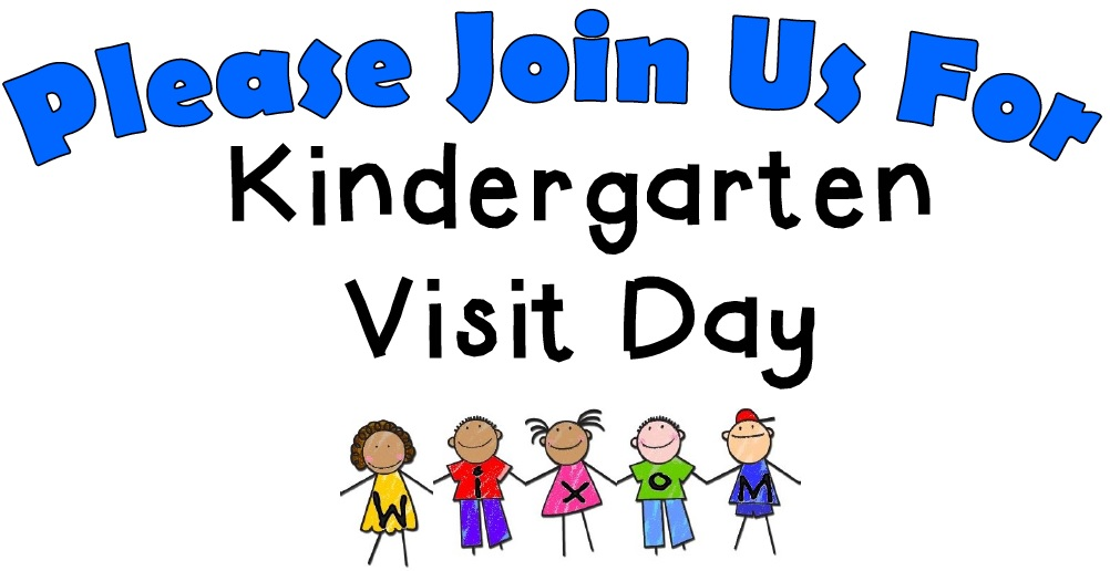 Kindergarten Visit Day Logo - Please join us for Kindergarten Visit Day